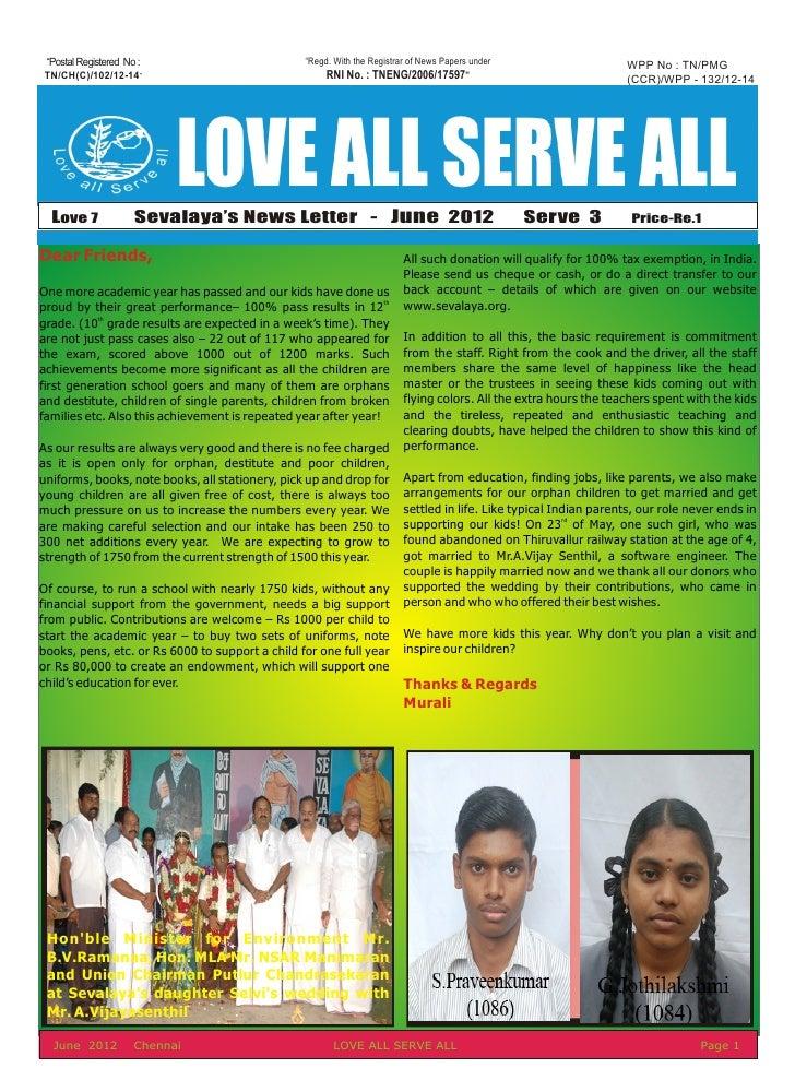 June News Letter 2012