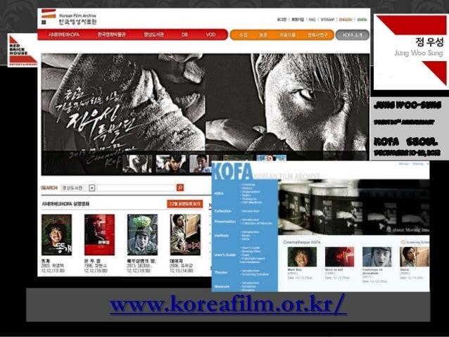 정우성  December 2013  월  Jung Woo Sung  20th anniversary film debut  20주년기념영화데뷔  Jung Woo-sung Debut 20th Anniversary  KOFA ...