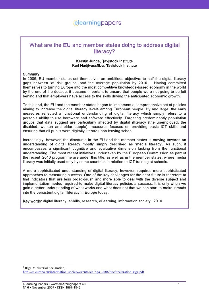 What are the EU and member states doing to address digital                            literacy?                           ...