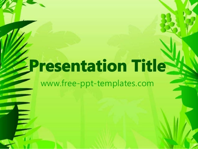Jungle power point template free ppt templates toneelgroepblik Image collections