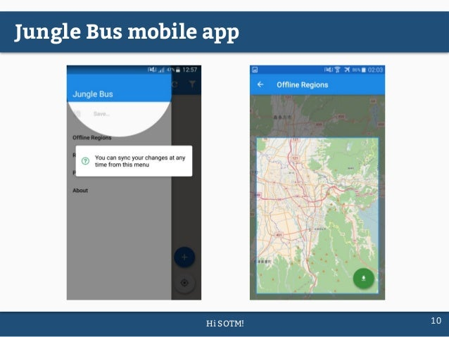 Jungle bus public transport networks mapping made easy sotm2017 hi sotm 10 jungle bus mobile app gumiabroncs Choice Image