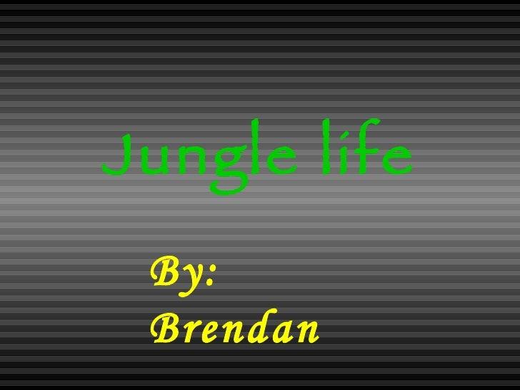 Jungle life By: Brendan