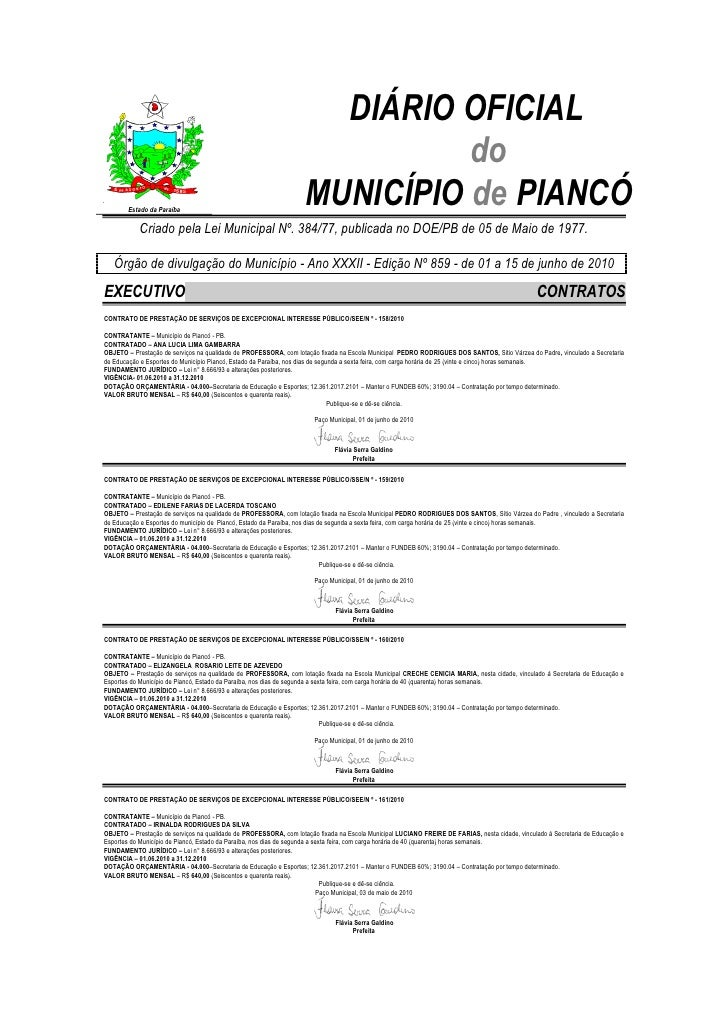 DIÁRIO OFICIAL                                                                             do.        Estado da Paraíba   ...