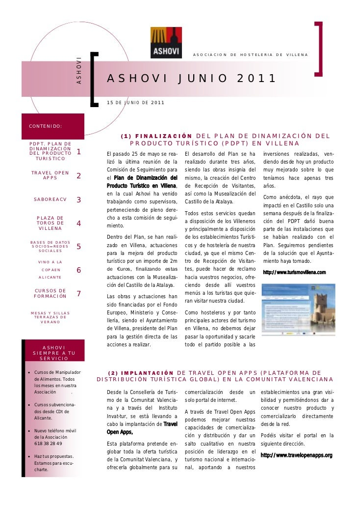 ASOCIACION       DE   HOSTELERIA      DE   VILLENA                        ASHOVI     A SHOV I                           J ...
