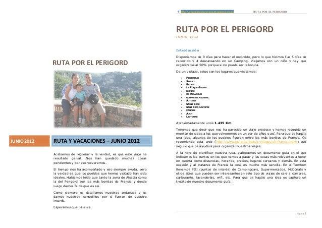 http://conmiautocaravana.blogspot.com.es       RUTA POR EL PERIGORD                                                       ...