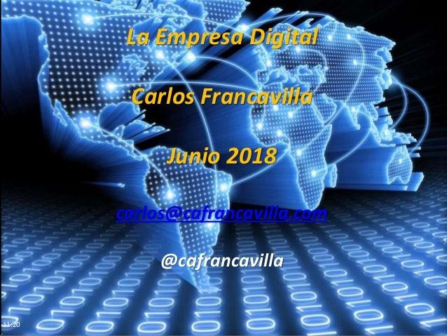 11:20 La Empresa Digital Carlos Francavilla Junio 2018 carlos@cafrancavilla.com @cafrancavilla