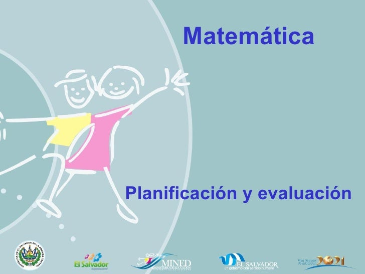 Matemática  Planificación y evaluación
