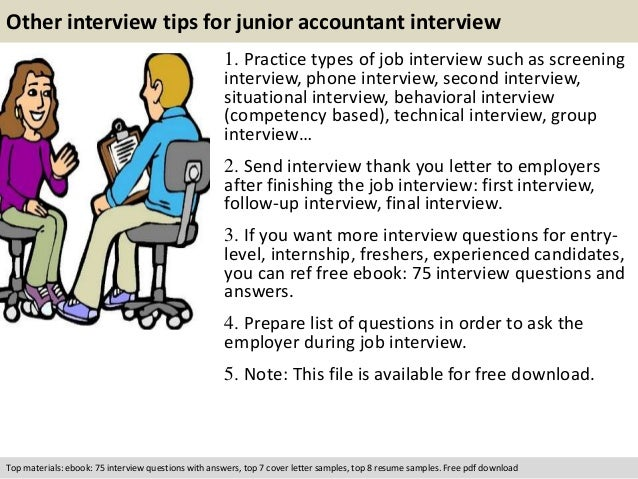 Junior accountant interview questions