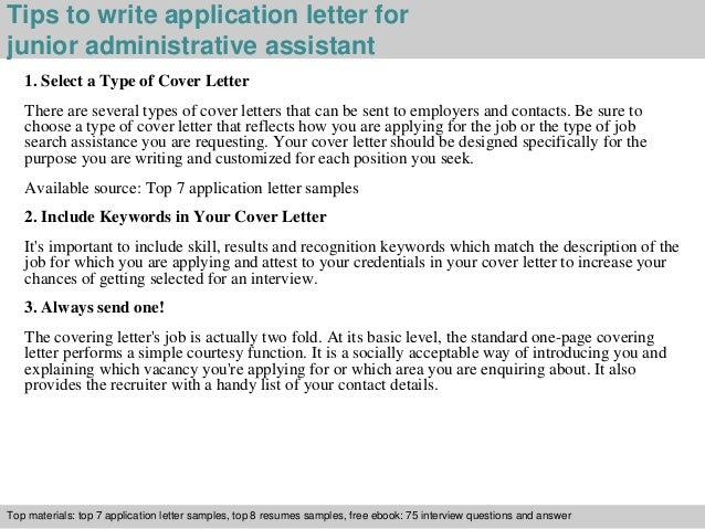 Application letter sample administrative assistant