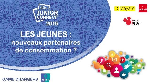 LES JEUNES : nouveaux partenaires de consommation ?