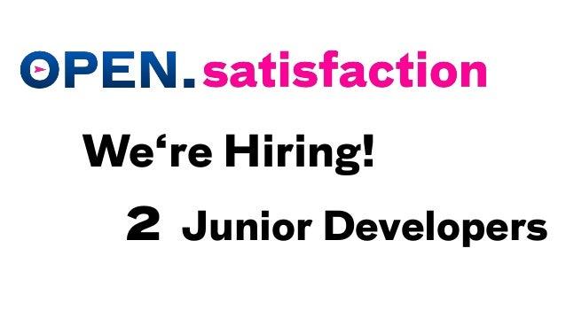 We're Hiring! 2 Junior Developers