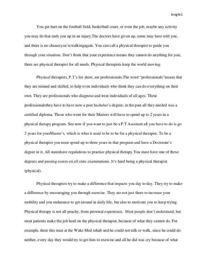 ptcas essay 2018 example