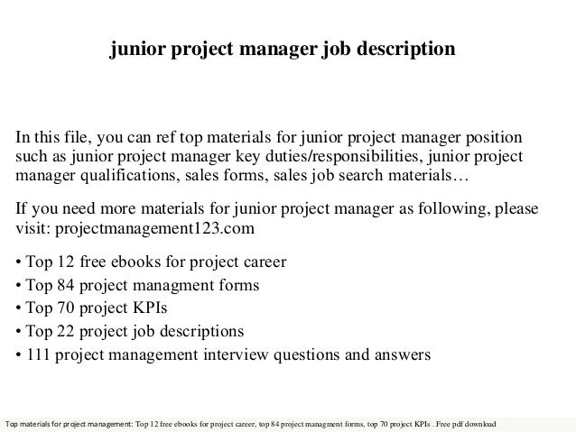 Junior project manager