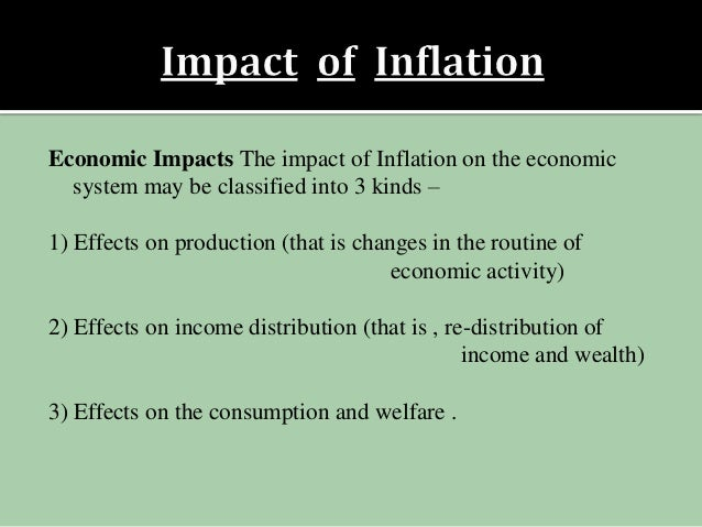 consequences of inflation Economic consequences of inflation income redistribution one risk of higher inflation is that it has a regressive effect on lower-income families and older people in society.