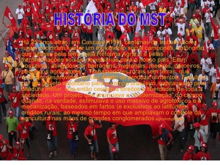 <ul><li>Há 25 anos atrás, em Cascavel (PR), centenas de trabalhadores rurais decidiram fundar um movimento social camponês...