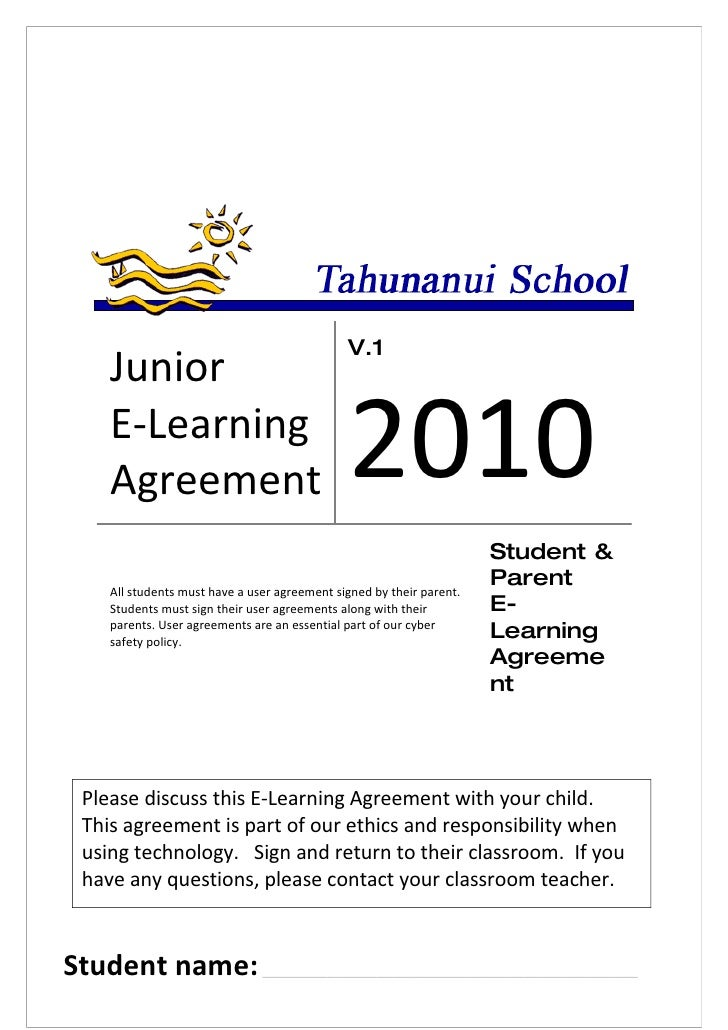 V.1     Junior     E-Learning     Agreement                                 2010                                          ...