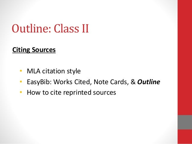 research paper outline mla format template