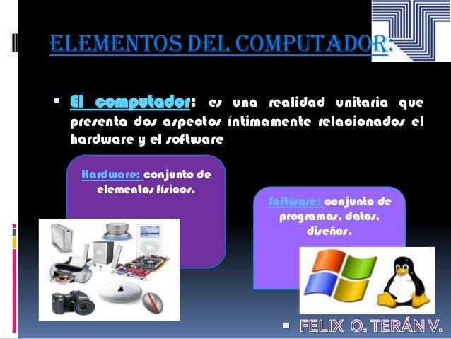 Elementos y manejo de un computador for Elementos de hardware