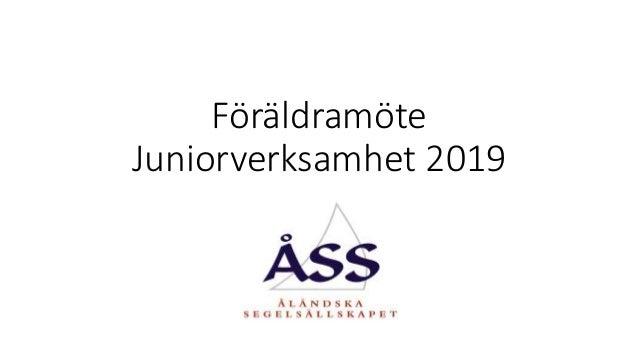Föräldramöte Juniorverksamhet 2019