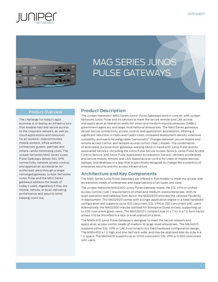 DATASHEET                                                  MAG Series Junos                                               ...