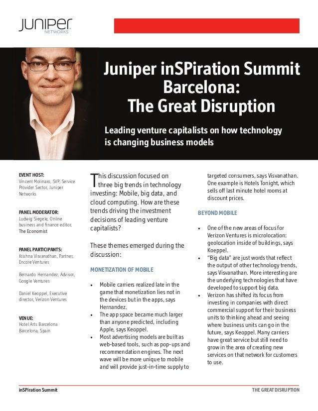 Juniper inSPiration Summit Barcelona: The Great Disruption