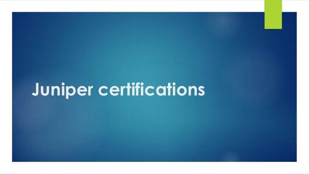 juniper certifications