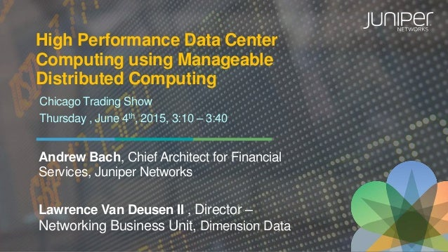 High performance data center computing using manageable distributed computing