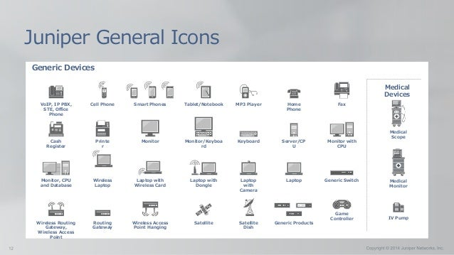 Generic Devices Juniper General Icons Monitor Monitor/Keyboa rd Keyboard Server/CP U Monitor with CPU Monitor, CPU and Dat...