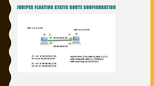 Juniper JNCIA – Juniper Floating Static Route Configuration