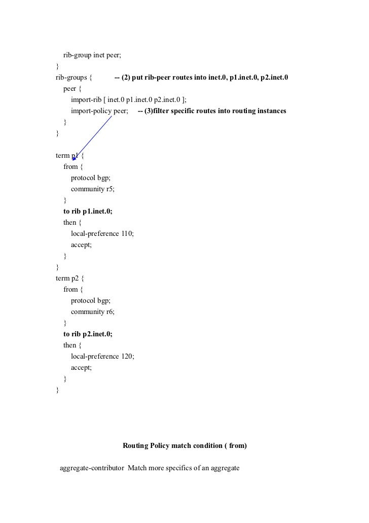 Juniper policy based filter based forwarding