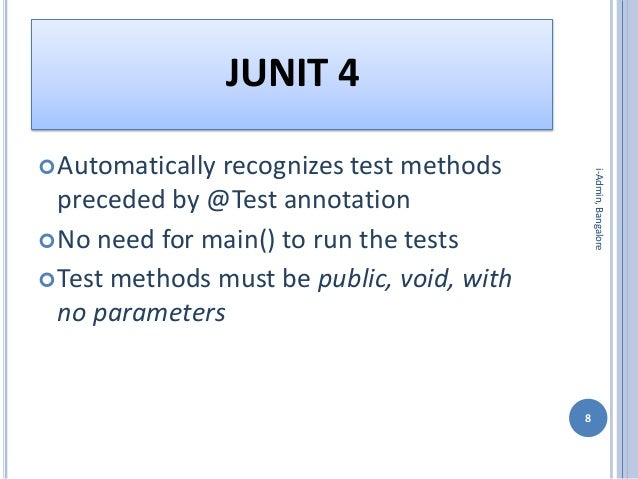 how to run omport junit tests