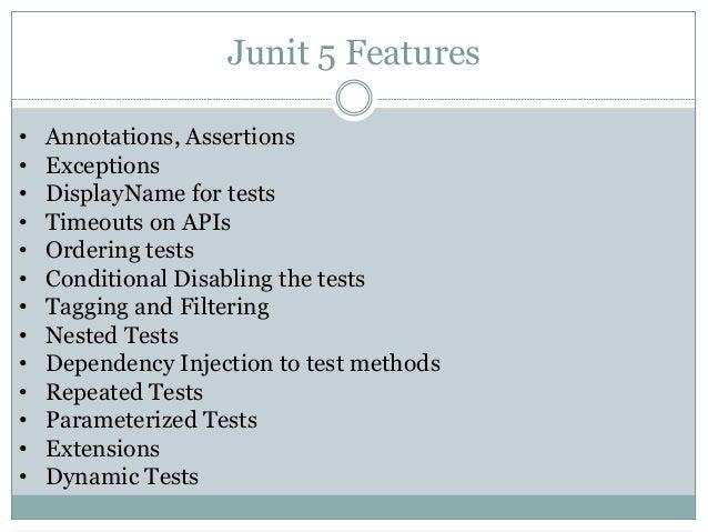 JUnit 5 Slides: Next generation Framework for Testing