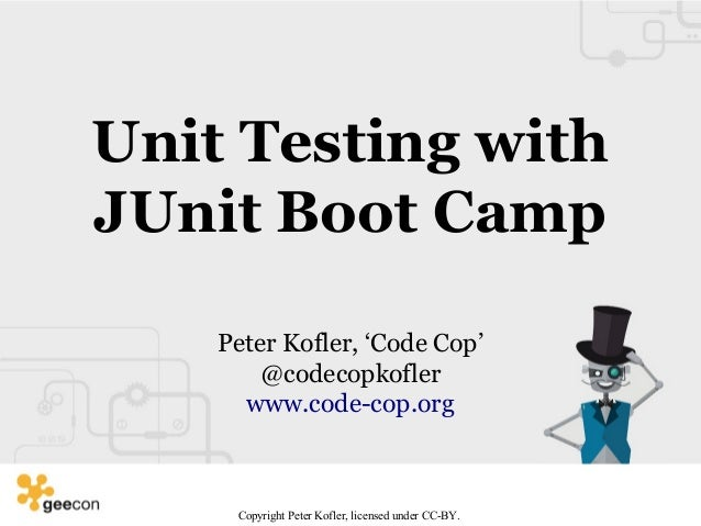 JUnit Boot Camp (GeeCON 2016)