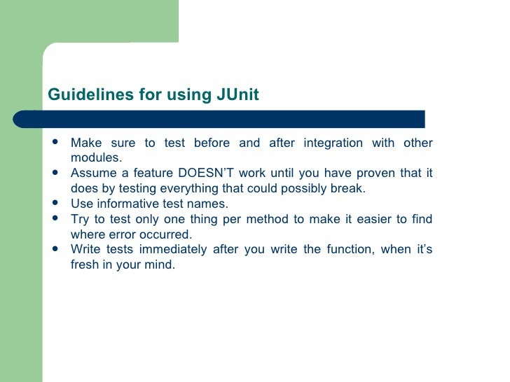 how to write junit tests