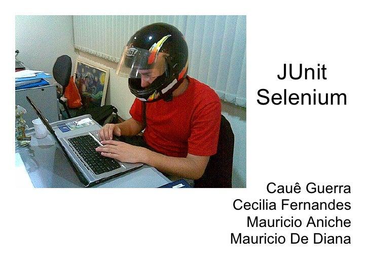 JUnit    Selenium        Cauê Guerra Cecilia Fernandes   Mauricio Aniche Mauricio De Diana