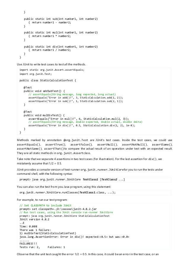 JUnit – Suite Test, run multiple test cases