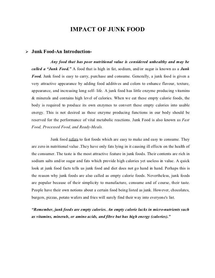 junk food popularity relies on marketing essay
