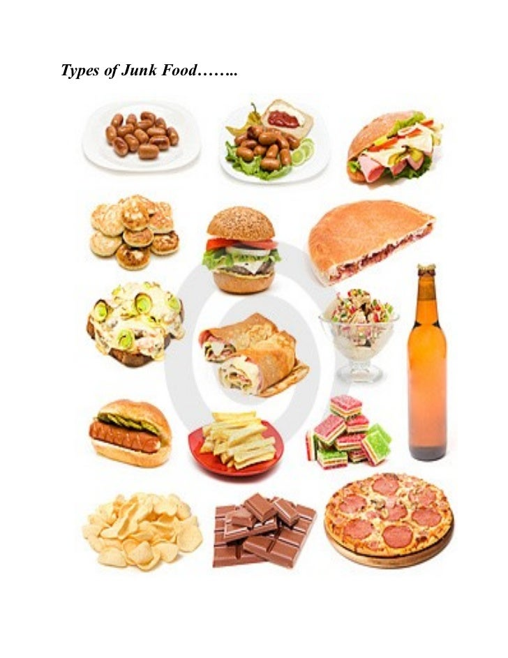 Healthy Food And Junk Food Information