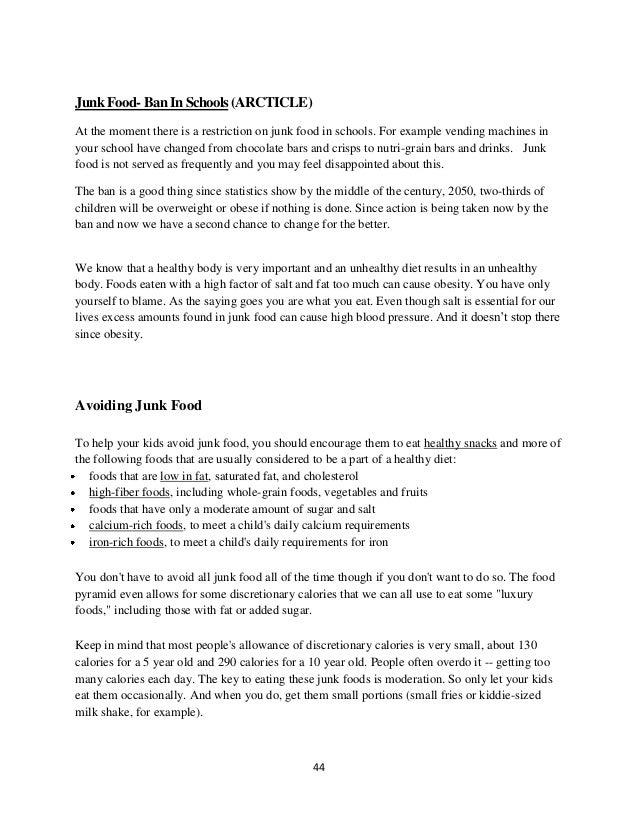 Junkfood a study and analysis
