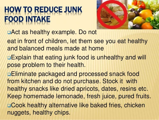 how can we avoid junk food