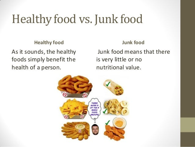 junk foods and healthy foods essay