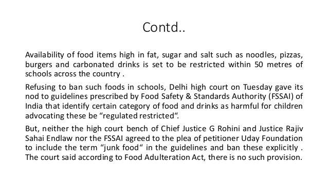 should junk food be allowed in schools