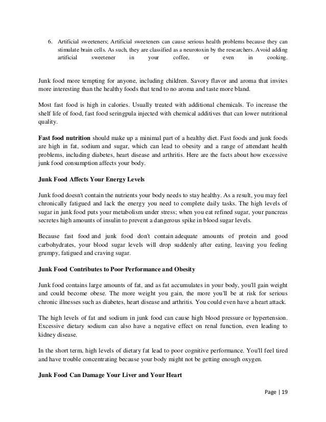 Junk Food Essay  Oklmindsproutco Junk Food Essay