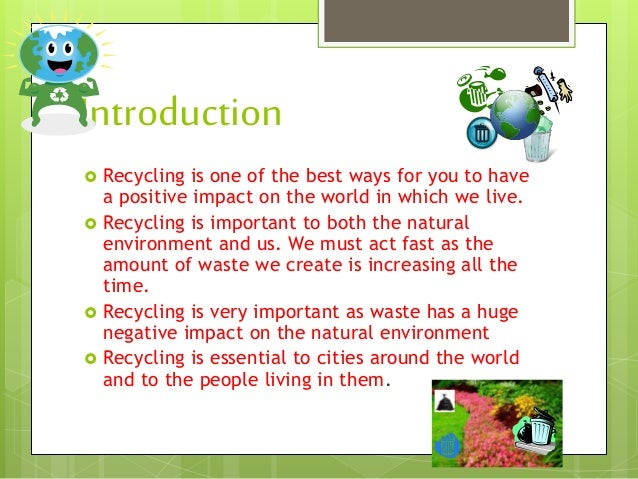 introduction on recycling The chapter starts with an overview on the recycling of construction and demolition wastes (cdw), followed by a brief analysis on the eu 70% recycling target fo.