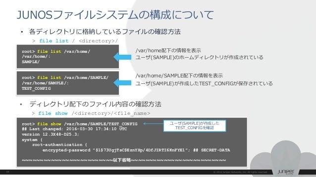 EX/QFX】JUNOS ハンズオントレーニング資料 EX/QFX シリーズ サービス