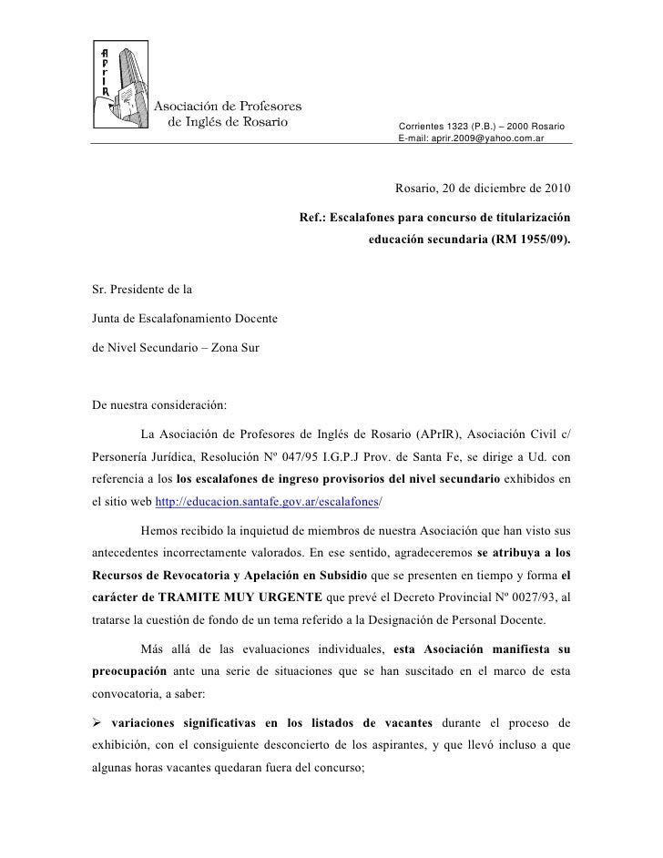 Corrientes 1323 (P.B.) – 2000 Rosario                                                            E-mail: aprir.2009@yahoo....