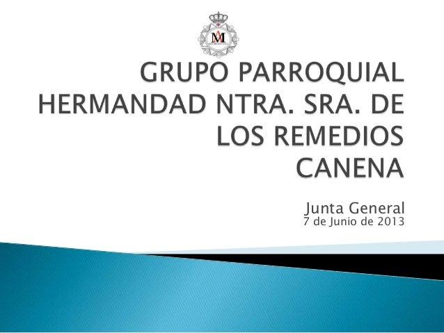 Junta General7 de Junio de 2013