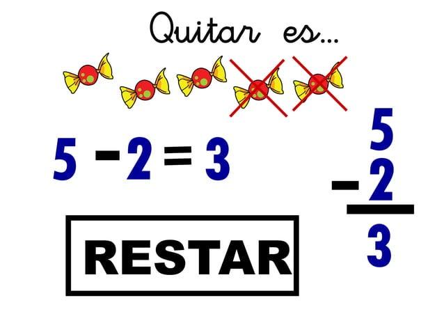 5 Quitar es... RESTAR 2 3 3 2 5