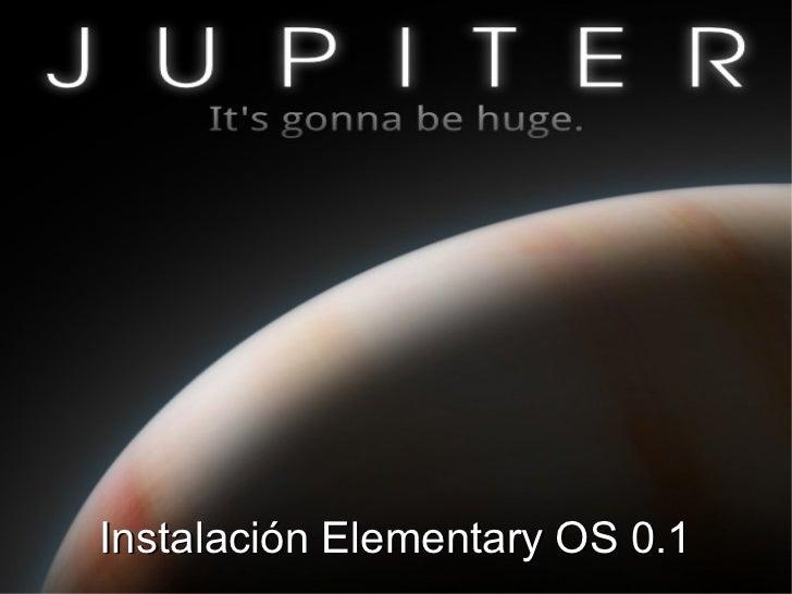 Instalación Elementary OS 0.1