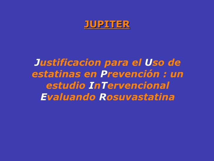 Estudio jupiter rosuvastatina pdf